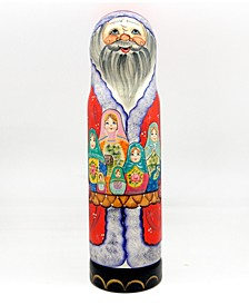 Santa Matreshkas Wine Bottle Gift Box