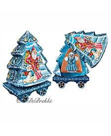 Holiday Express Santa and Surprise Tree Box Figurine