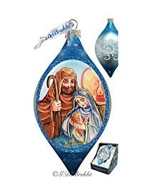 Nativity Drop Glass Ornament