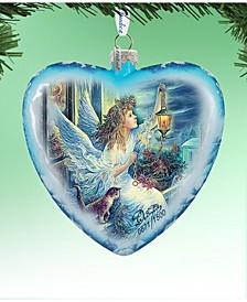 Limited Edition Oversized Light The Way Angel Glass Ornament