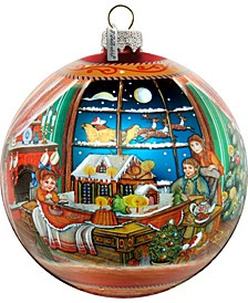 Limited Edition Oversized Christmas Arrival Up Up and Away Glass Ornament