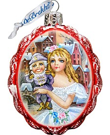 Nutcracker Keepsake Glass Ornament