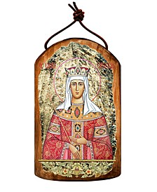 Saint Elena Wooden Greek Christian Orthodox Icon Ornament
