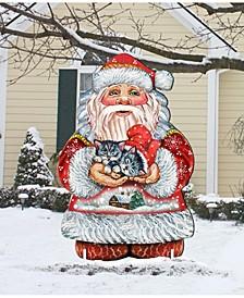 Holidays Kitten Free Standing Wooden Garden Decor