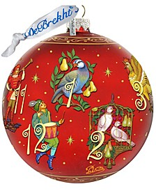 Limited Edition Oversized 12 Days of Christmas Glass Ornament