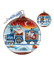 Limited Edition Oversized Holiday Express Ball Red Ornament