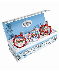 Christmas Gifts Set of 3 Glass Ornaments