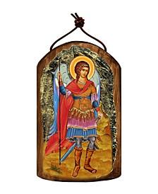 Saint Michael The Archangel Wooden Greek Christian Orthodox Icon Ornament