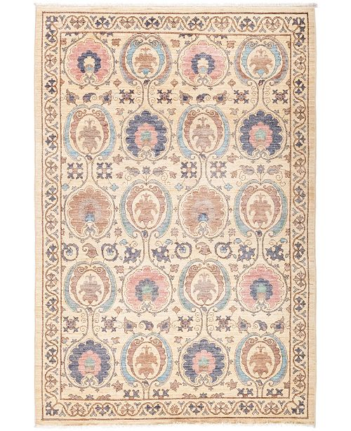 """Timeless Rug Designs CLOSEOUT! One of a Kind OOAK2710 Ivory 5'2"""" x 7'7"""" Area Rug"""