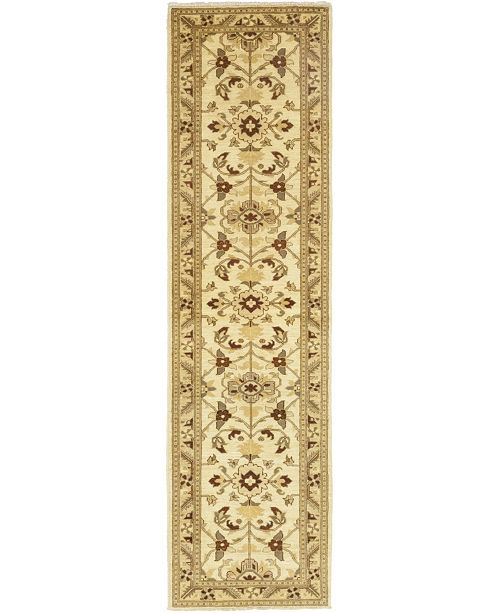 "Timeless Rug Designs CLOSEOUT! One of a Kind OOAK78 Cream 2'7"" x 10' Runner Rug"
