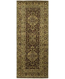 """CLOSEOUT! One of a Kind OOAK252 Brown 4' x 10'2"""" Runner Rug"""