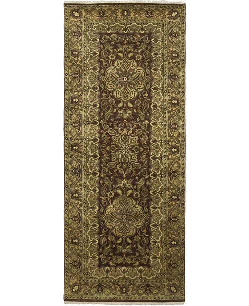"Timeless Rug Designs CLOSEOUT! One of a Kind OOAK252 Brown 4' x 10'2"" Runner Rug"