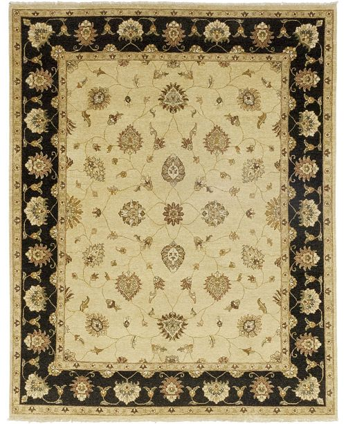 """Timeless Rug Designs One of a Kind OOAK261 Cream 8'1"""" x 10'4"""" Area Rug"""
