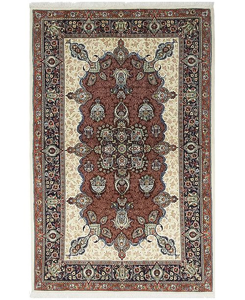 """Timeless Rug Designs CLOSEOUT! One of a Kind OOAK579 Tan 4'5"""" x 6'10"""" Area Rug"""