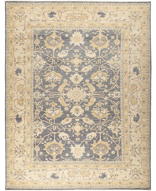 """Timeless Rug Designs CLOSEOUT! One of a Kind OOAK649 Slate 9'5"""" x 11'10"""" Area Rug"""