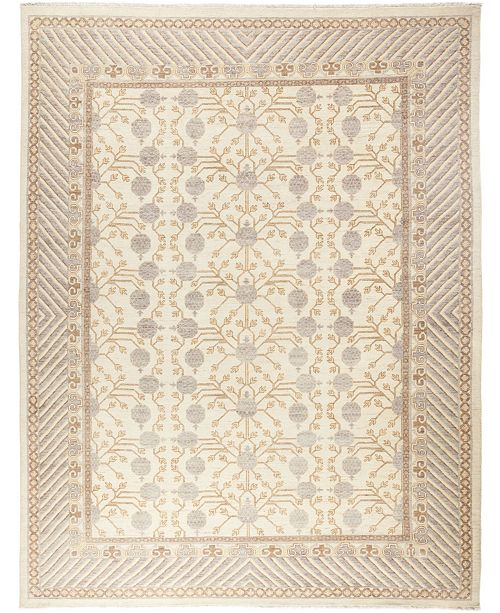 """Timeless Rug Designs CLOSEOUT! One of a Kind OOAK659 Ivory 9'2"""" x 11'10"""" Area Rug"""