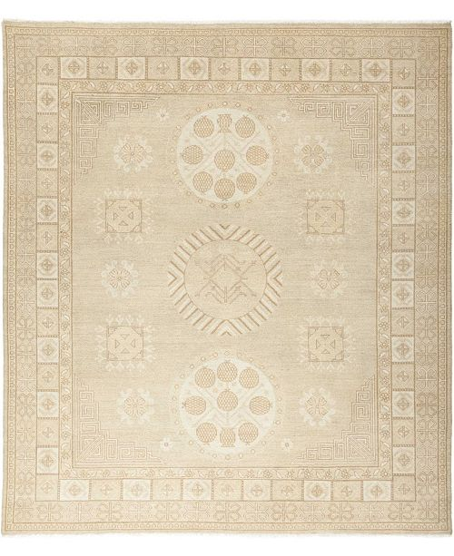 """Timeless Rug Designs CLOSEOUT! One of a Kind OOAK669 Mocha 8'2"""" x 9'4"""" Area Rug"""