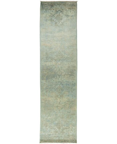 """Timeless Rug Designs CLOSEOUT! One of a Kind OOAK834 Mint 3'2"""" x 12'4"""" Runner Rug"""