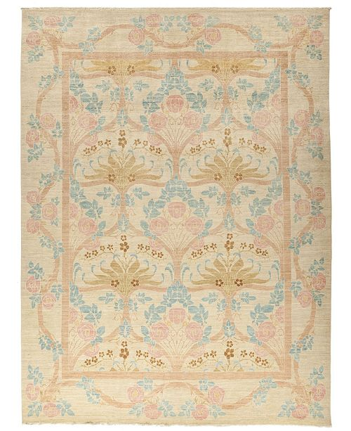 """Timeless Rug Designs CLOSEOUT! One of a Kind OOAK855 Beige 8'8"""" x 11'7"""" Area Rug"""
