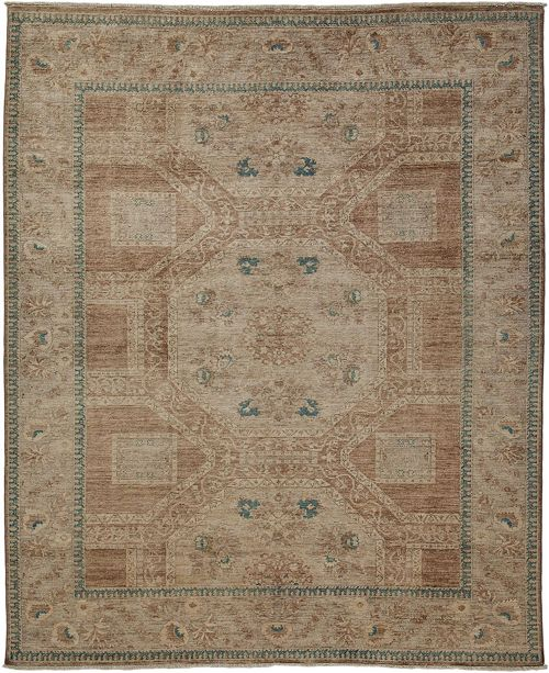 "Timeless Rug Designs One of a Kind OOAK3639 Hazelnut 7'10"" x 9'6"" Area Rug"