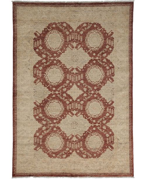 """Timeless Rug Designs CLOSEOUT! One of a Kind OOAK3443 Mocha 5' x 7'2"""" Area Rug"""