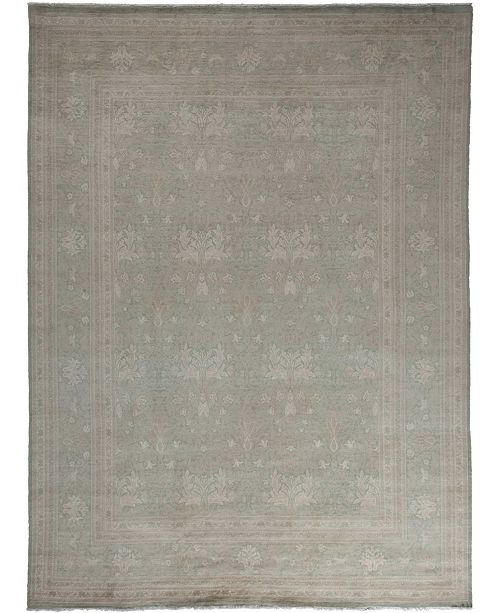"Timeless Rug Designs CLOSEOUT! One of a Kind OOAK3482 Silver 9' x 12'2"" Area Rug"