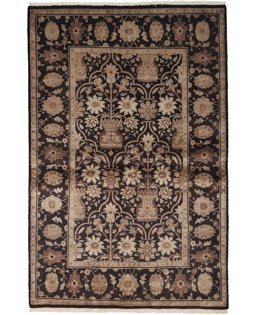 "Timeless Rug Designs One of a Kind OOAK3967 Mocha 4'1"" x 6'3"" Area Rug"