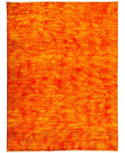 "Timeless Rug Designs CLOSEOUT! One of a Kind OOAK3250 Tangerine 7'10"" x 10'5"" Area Rug"