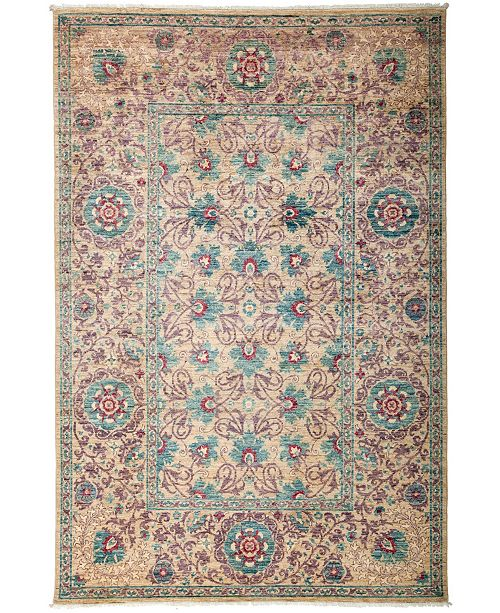"""Timeless Rug Designs CLOSEOUT! One of a Kind OOAK3157 Cream 6'1"""" x 8'10"""" Area Rug"""