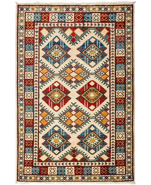 """Timeless Rug Designs CLOSEOUT! One of a Kind OOAK3169 Red 3'10"""" x 5'10"""" Area Rug"""