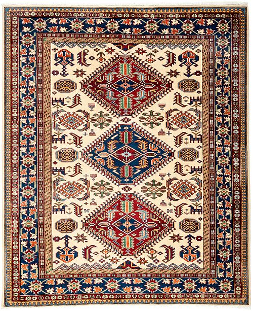 """Timeless Rug Designs CLOSEOUT! One of a Kind OOAK3135 Orange 5'3"""" x 6'3"""" Area Rug"""
