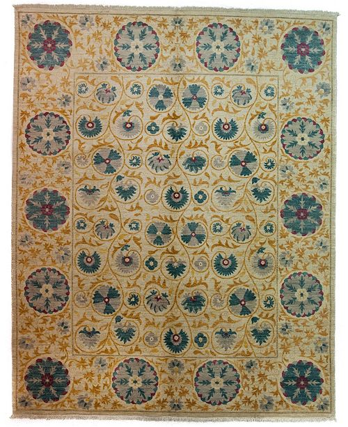 "Timeless Rug Designs CLOSEOUT! One of a Kind OOAK4013 Bone 8'1"" x 10'7"" Area Rug"