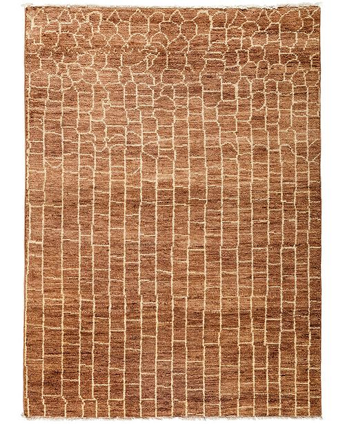 "Timeless Rug Designs CLOSEOUT! One of a Kind OOAK3075 Cocoa 4'10"" x 6'9"" Area Rug"