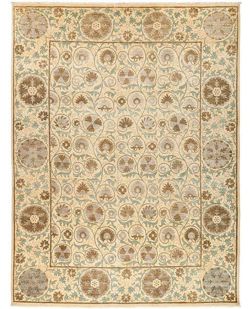"""Timeless Rug Designs CLOSEOUT! One of a Kind OOAK3051 Ivory 9'3"""" x 12'3"""" Area Rug"""