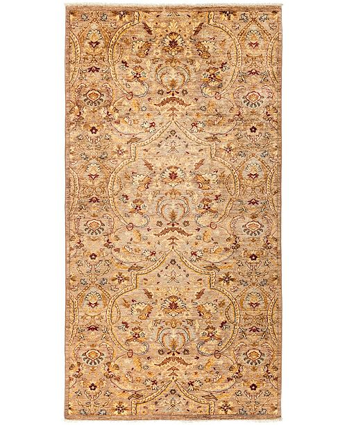 """Timeless Rug Designs CLOSEOUT! One of a Kind OOAK3030 Cocoa 4'10"""" x 9'7"""" Area Rug"""