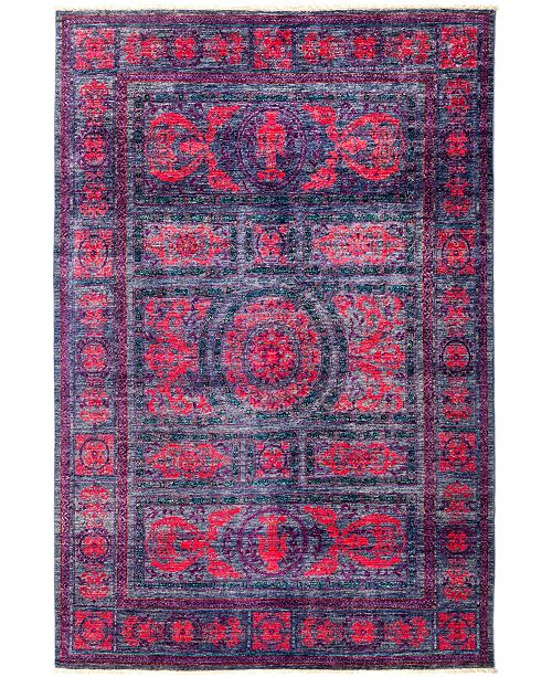 """Timeless Rug Designs CLOSEOUT! One of a Kind OOAK2971 Red 6'1"""" x 8'9"""" Area Rug"""