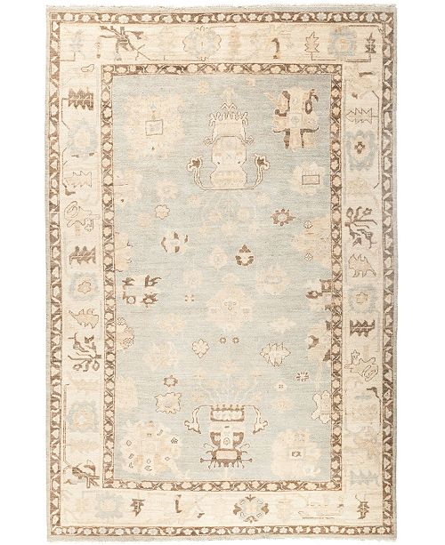 """Timeless Rug Designs CLOSEOUT! One of a Kind OOAK2903 Ivory 6' x 9'1"""" Area Rug"""