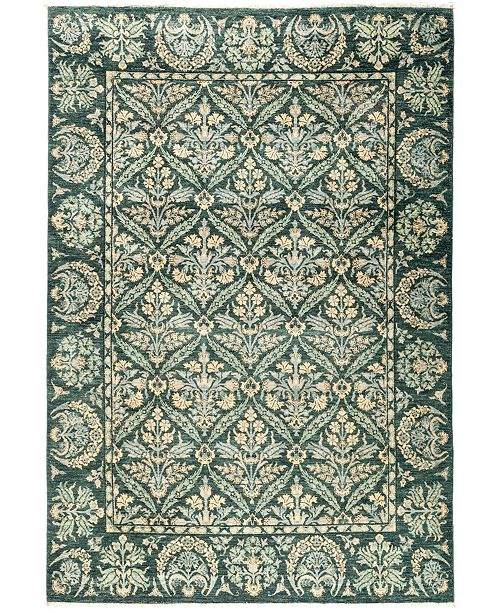 "Timeless Rug Designs CLOSEOUT! One of a Kind OOAK2880 Green 6'3"" x 9'2"" Area Rug"