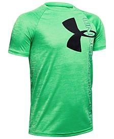 Big Boys Tech Split Logo Hybrid-Print T-Shirt