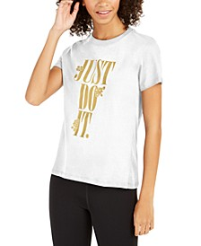 Women's Cotton Metallic Just Do It T-Shirt