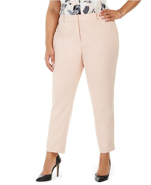 Calvin Klein Plus Size Straight-Leg Dress Pants