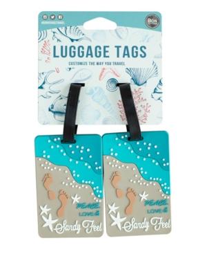 Bon Voyage Coastal Themed 2-Pc. Luggage Tag Set