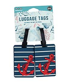Coastal Themed 2-Pc. Luggage Tag Set