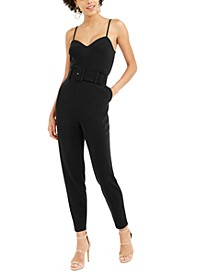 Belted Crepe Jumpsuit, Created for Macy's