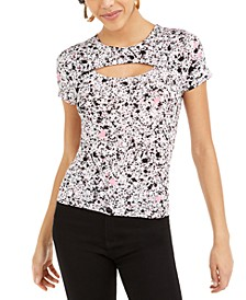 Splatter-Paint Printed Cutout T-Shirt, Created For Macy's