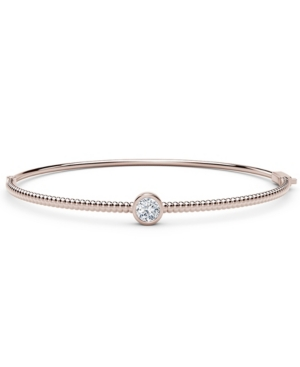 Forevermark Tribute Collection Diamond (1/4 ct. t.w.) Bangle with Beaded Detail in 18k Yellow