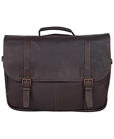 Colombian Leather Flapover Laptop  Bag