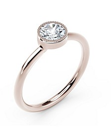 Tribute™ Collection Diamond (1/4 ct. t.w.) Ring with Mill-Grain in 18k Yellow, White and Rose Gold