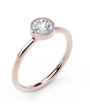 Forevermark Tribute Collection Diamond (1/3 ct. t.w.) Ring with Mill-Grain in 18k Yellow