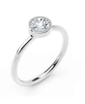 Forevermark Tribute Collection Diamond (1/4 ct. t.w.) Ring with Mill-Grain in 18k Yellow